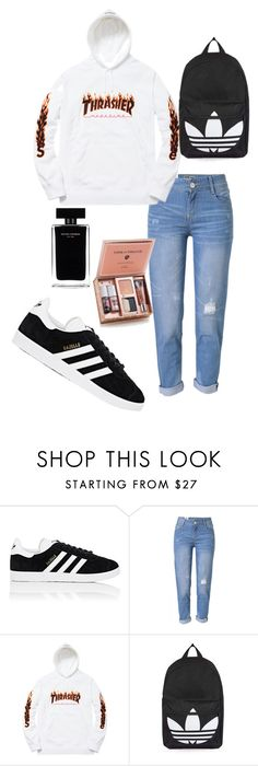 """""""Thrasher"""" by jsnop ❤ liked on Polyvore featuring adidas, WithChic, Topshop and Narciso Rodriguez"""
