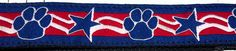 Patriotic Paws, Stars & Stripes Dog Collar Fundraiser For Service Dogs - Large, Medium, Medium Plus Unique Dog Collars, The Endeavour, Dress Up Day, Service Dogs, Needle And Thread, Large Dogs, Grosgrain, Your Pet, Beast