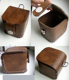 My work 🙂 Leather box. My work :] Leather Box, Leather Gifts, Leather Bags Handmade, Leather Pouch, Leather Tooling, Leather Craft, Leather Wallet Pattern, Gift Wraping, Leather Carving