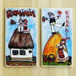 Magnet suvenir- motive traditionale   festART Romania, Bookends, Magnets, Coasters, Home Decor, Decoration Home, Room Decor, Coaster, Home Interior Design