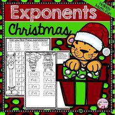 Christmas Math Exponents Activities Math Stations, Math Centers, Order Of Operations, Christmas Math, 5th Grade Math, Math For Kids, 5th Grades, Winter Theme, Math Activities