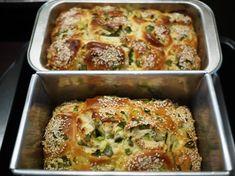 Easy Fluffy No-Knead Bread - green onion bread