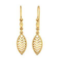 The Splendor in Petal Earrings   Earring In 18Kt Yellow Gold
