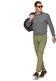 Washed Green Chino Pants B275i | Suitsupply Online Store