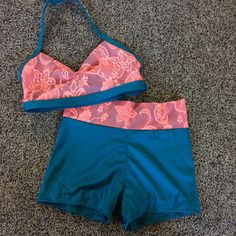 Coral lace outfit by NEthingDance on Etsy (maybe different colors would be nice)