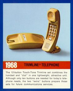 Trimline telephone - Uses touch-tone service with two additional keys for future use.