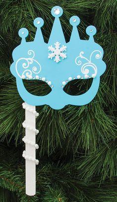 Nicole™ Crafts Snow Queen Mask #craft #frozen #kids #costumeideas