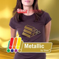 Heat transfer vinyl (i. T-shirt vinyl, Iron-on vinyl) comes with a heat activated adhesive on one side.