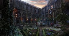 The Imperial Gardens (The Art of the Witcher 3 Wild Hunt - Games)