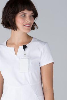 Premium Stretch Scrubs for Women White Scrubs, Womens Scrubs, Scrub Tops, Stretches, V Neck, Fashion, Moda, Work Blouse, Fashion Styles