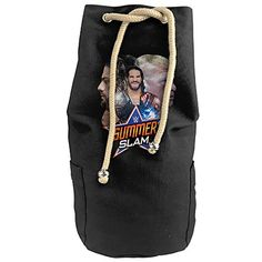 BIBIKING WWE SummerSlam 2016 Canvas Beam Port Drawstring Sports Basketball Shoulders Backpack Bags >>> Click on the image for additional details. #GymBags