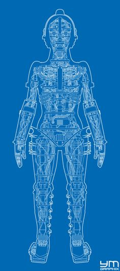 Are you a battle bot on a budget this top secret robot blueprint metropolis robot anatomy blueprint malvernweather Images