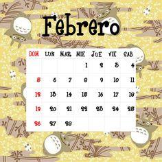 Calendario Totoro 2017 ☼ Febrero