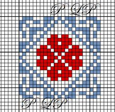 Carr e 45 Crochet Stitches Patterns, Counted Cross Stitch Patterns, Cross Stitch Designs, Cross Stitch Embroidery, Hand Embroidery, Embroidery Patterns, Crochet Cross, Crochet Chart, Fair Isle Chart