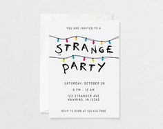 Stranger Things Party Invitation | Digital File | Printable Invitation