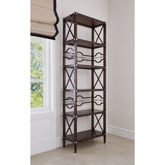 17554-800-001 Spindle Etagere Walnuty W 30 D 15.5 H 91.5 #2Foot #3Foot $3000 #OpenShelving