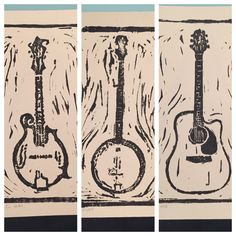 2465cd60129 Hand Carved Bluegrass Instruments Prints (