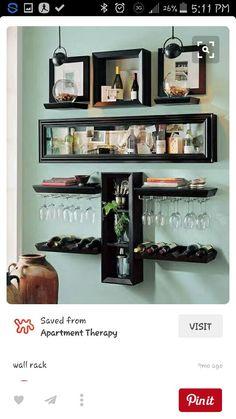nice nice Idee voor in onze slaapkamer :). - Home Decor Decor, Dining Storage, Bar Decor, Home, Dining Room Bar, Stylish Toy Storage, Bars For Home, Mini Bar, Modern Home Bar
