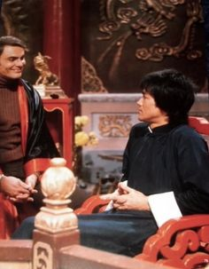 Bruce with John Saxon in Enter The Dragon