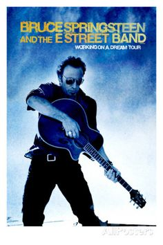 Concert Poster: Bruce Springsteen, Working on a Dream, Tour Poster