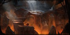 Dwarven Caverns Concept Art by artofjokinen.deviantart.com on @deviantART