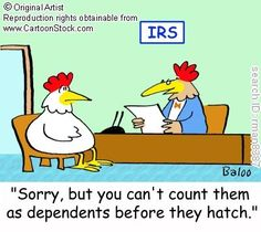 Sorry, but you can't count them as dependents before they hatch.