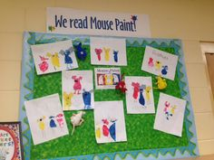 We created mice after reading Mouse Paint.