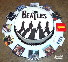 The Beatles ~ Abbey Road Cake    View more of my Custom Cakes and Treats at http://www.fb.com/StepfordSweetsCT