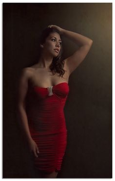 red dress - Playing with processing and the d800 and 24-120
