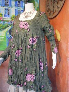 """Privatsachen - Cocon Commerz Kleid """"Gebärdelarve"""" aus Seide, Farbe: mimos (oliv) in Kleidung & Accessoires, Damenmode, Kleider   eBay"""