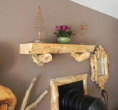 log mantle shelf 24 inch. by AspenSpirit on Etsy, $188.00