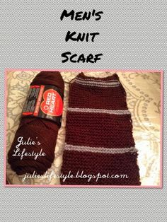 Julie's Lifestyle: Men's Knit Scarf Update