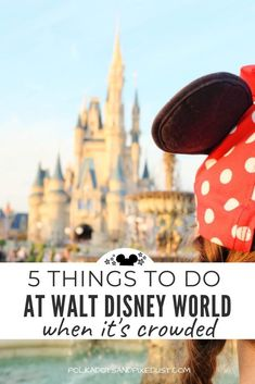 Heading to Walt Disney World when it's crowded can be tough! Make sure you're prepared with Disney Pro Tips to help you get around the crowds with secret shortcuts, breaks throughout the day, and more strategies to help you have the best Disney vacation ever. #polkadotpixies