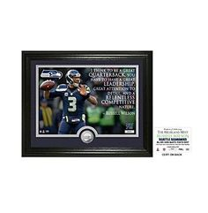 "NFL® Seattle Seahawks Russell Wilson ""Quote"" Silver Coin Photo Mint by The Highland Mint"