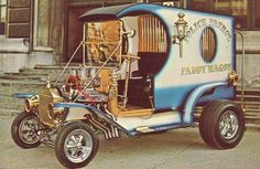 Vintage-Carl-Casper-Paddy-Wagon-Show-Hot-Rod-Photo-POSTCARD-Gasser-Custom-Rat