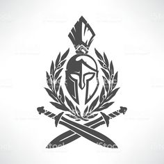 Sparta coat of arms - arte vettoriale royalty-free di Guerriero Forarm Tattoos, Body Art Tattoos, Sleeve Tattoos, Black Ink Tattoos, Small Tattoos, Spartan Helmet Tattoo, Blitz Tattoo, Sparta Tattoo, Atlas Tattoo