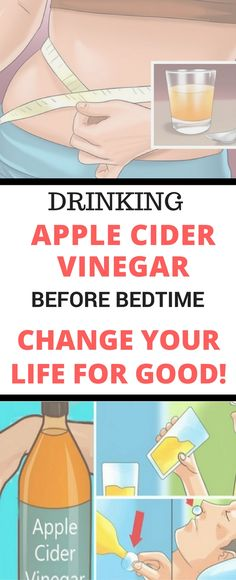 Drinking Apple Cider Vinegar Before Bedtime Will Change Your Life For Good..!!!!!