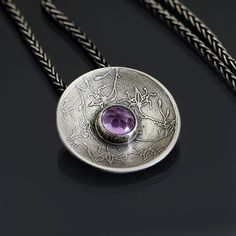 Amethyst and sterling silver necklace by Lisa Hopkins Design