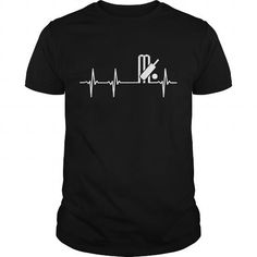 Cool CRICKET HEARTBEAT T-Shirts #tee #tshirt #named tshirt #hobbie tshirts #cricket