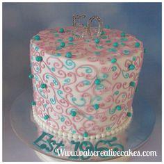 Pretty 50th birthday cake