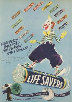 Vintage Life Savers ad, 1955 -  FLORAL???? WOW So many I would have loved to try.