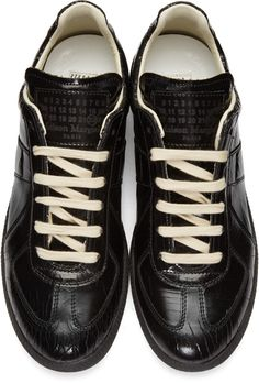 Maison Margiela - Black Cracked Replica Sneakers