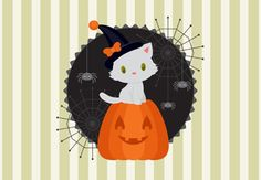 How to Create a Halloween Illustration With a White Kitten in Adobe Illustrator // nice tips on altering pen-tool shapes