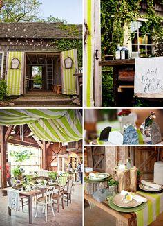 Einladende rustikale Hochzeitsdekorationen von Laura Novak
