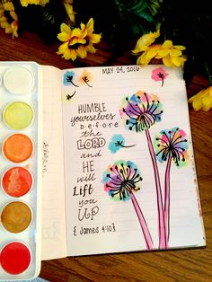 ORDER ME ON FACEBOOK @ FRESH PRINTS OF BELAIRE OR INSTAGRAM @ FRESH_PRINTS_OF_BELAIRE  Dandelion, James 4:10, bible journaling community, bible journaling, bible journal, bible verse, coffee, yoga, sunflower, watercolor, perfume, son, devotional, jesus, god, love, war room, boho, boho chic, hippie, bible study, houston art, mom life, quiet time, flowers, diamonds http://ift.tt/1KAavV3