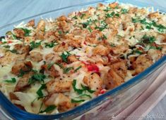 Zapiekanka kebab- gyros z makaronem - przepis ze Smaker.pl Fried Rice, Fries, Food And Drink, Chicken, Meat, Ethnic Recipes, Lasagna, Kochen, Rezepte