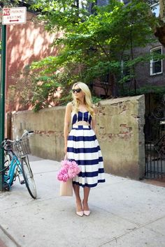 Striped look