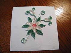 This card was created using pearl quilling strips