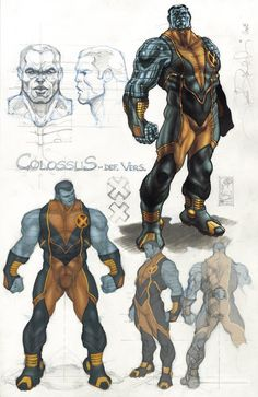 Simone Bianchi Colossus design ★ || CHARACTER DESIGN REFERENCES…