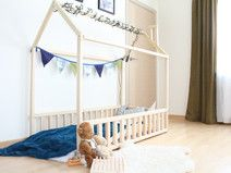 House bed 160x90cm with fence & SLATS